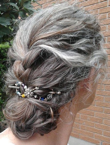french braides over fifty my hair in a french braid using a flexi 8 hair clip http