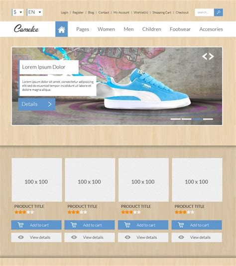free comelce flat e commerce website template psd titanui