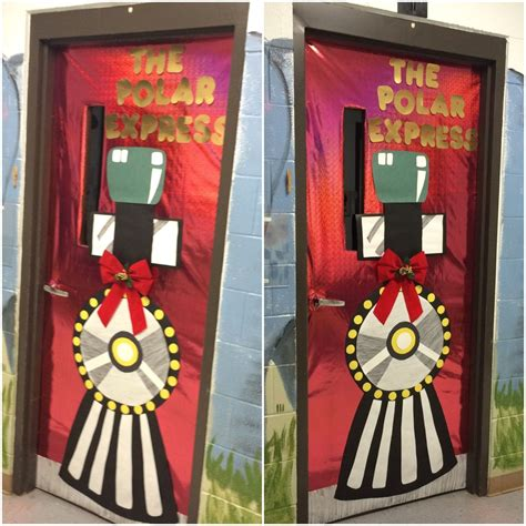 polar express classroom door for christmas my crafts