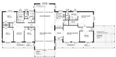 home layout plan floor plan friday for views on a semi rural setting