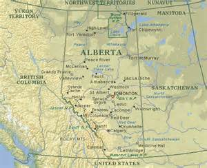 map of alberta canada with cities images