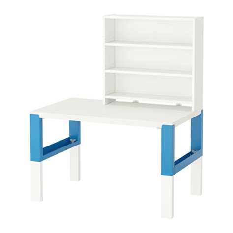 Desk Shelf Unit by P 197 Hl Desk With Shelf Unit White Blue