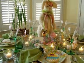 easter decorations for the home easter table setting tablescape with bunny centerpiece