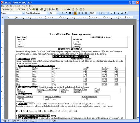 how to setup your contract layout for printing contracts