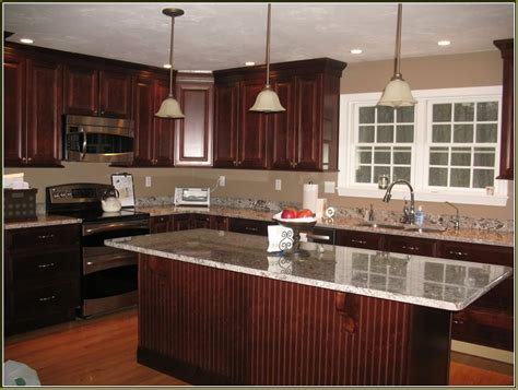 Wall Color With Cherry Wood Cabinets Nrtradiant Com Cherry Kitchen Cabinets