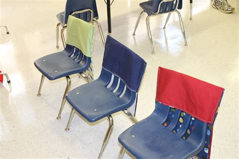 classroom chair pockets child at