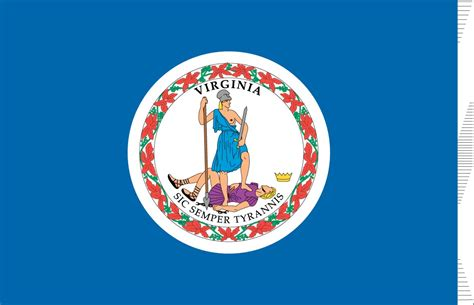 virginia state colors virginia flag elmers flag and banner