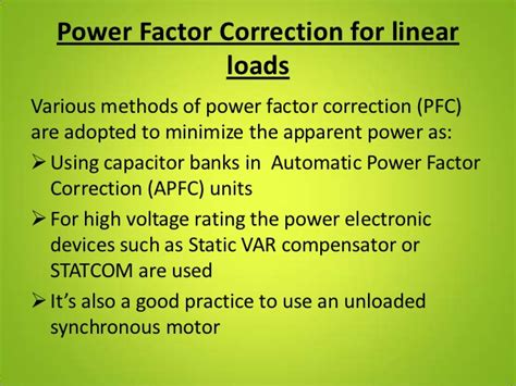 power factor correction in synchronous motor automatic power factor correction unit
