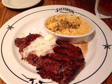 saltgrass steak house beaumont tx ribeye with macaroni and cheese picture of saltgrass steakhouse beaumont tripadvisor