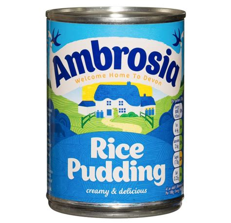 rice pudding in a duvet a journey home with snacks books ambrosia rice pudding 400g dessert groceries