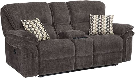 dual recliner loveseat with console lightning zachary shadow dual reclining console loveseat