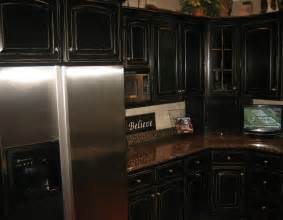 Distressed black cabinets 11 black distressed kitchen cabinets