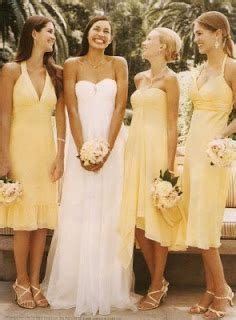 Bridesmaid Dresses Aza - bridesmaids gowns pastel yellow bridesmaids