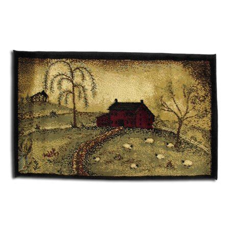10 x 20 throw rug scenic country farm throw rug 20 x 30 in