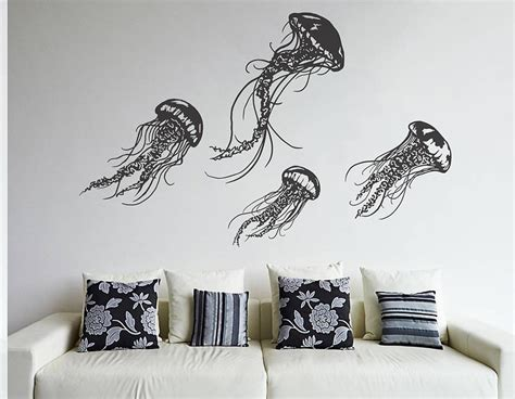 contemporary wall stickers jellyfish wall sticker set contemporary wall stickers