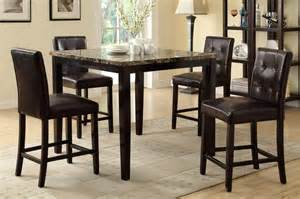 Pub Height Dining Room Sets Lyndon Faux Marble Pub Counter Height Dining Set