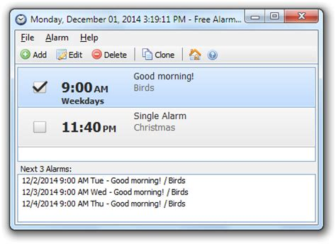 free alarm clock free download and software reviews