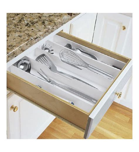 Kitchen Drawer Organizer Expand A Drawer Utensil Organizer In Kitchen Drawer Organizers