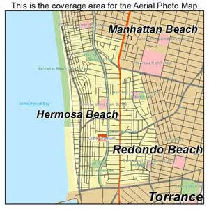 hermosa california map aerial photography map of hermosa ca california
