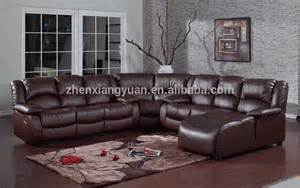 leather and fabric living room sets living room furniture sectional sofa leather air fabric reclining sofa set sf4590 buy living