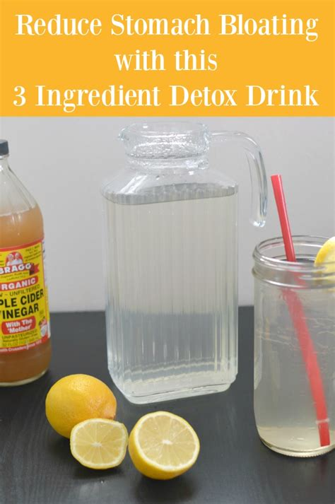 Belly Bloat Detox Water by Debloat With A 3 Ingredient Detox Drink Recipe Sofabfood