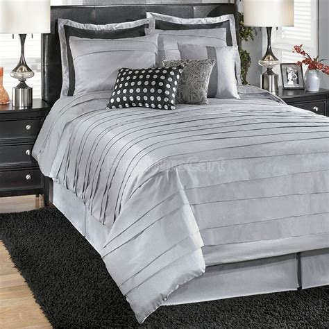 Silver Comforter by Lilith Silver Bedding Set Guest Bedroom