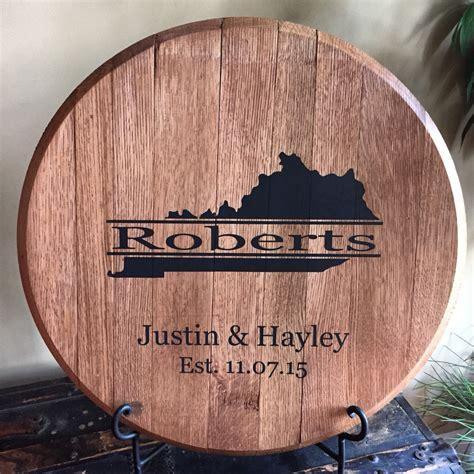 Kentucky bourbon whiskey barrel head ? Great wedding gift!