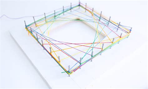 Geometric String Templates - math idea explore geometry through string