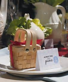 Picnic Themed Favors summer wedding favors mini picnic baskets