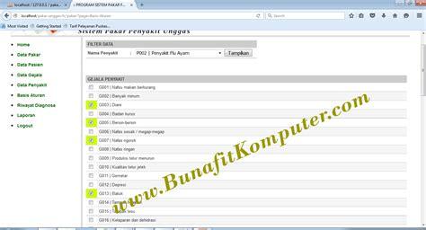 Membuat Aplikasi Sistem Pakar Bunafit Nugroho contoh program sistem pakar sederhana bunafit komputer