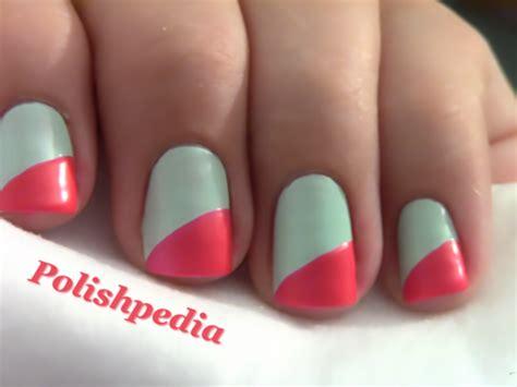 imagenes de uñas pintadas en colores u 241 as pintadas de dos colores