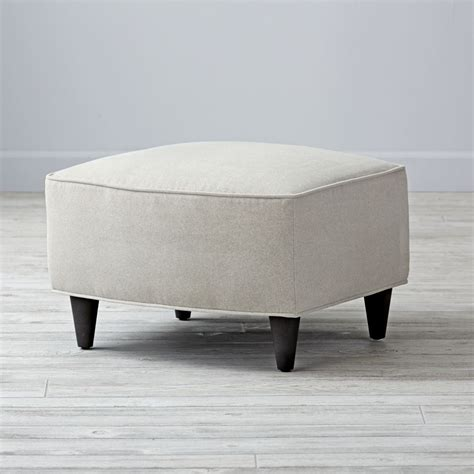 land of nod ottoman toby light gray ottoman the land of nod