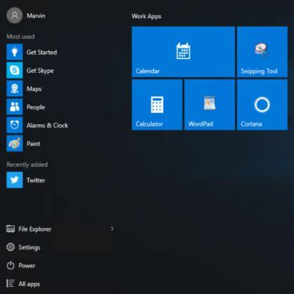 export start layout xml windows 10 customize windows 10 start menu layout via uem