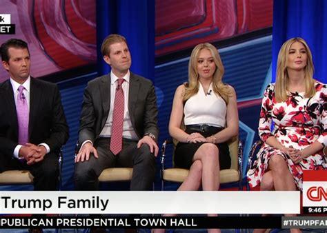 trump family photos trump family cnn town hall was a joke
