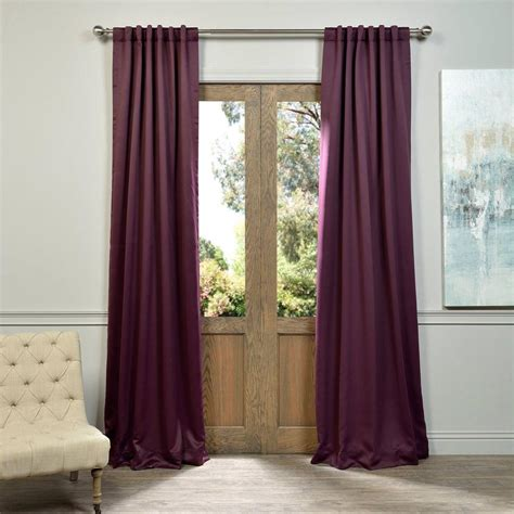 Purple Blackout Curtains Exclusive Fabrics Furnishings Aubergine Purple Blackout Curtain 50 In W X 108 In L Pair