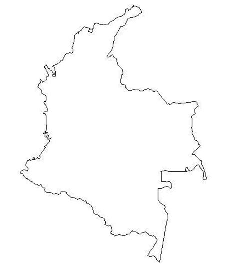 colombia map coloring page free blank outline maps of colombia clipart best