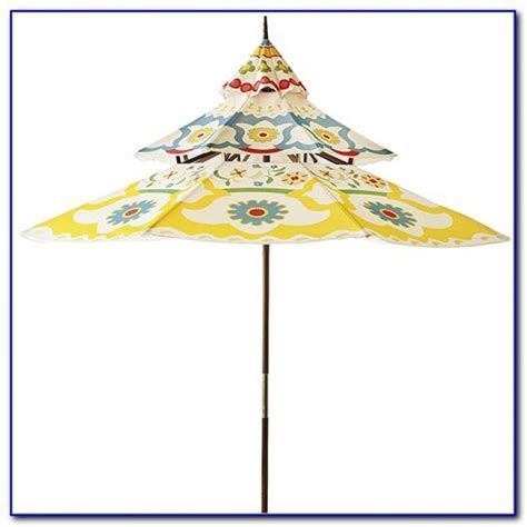 Pagoda Patio Umbrella Striped Pagoda Patio Umbrella Patios Home Design Ideas