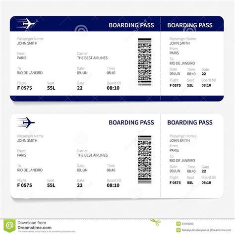 pretend plane ticket template airline ticket template best template idea