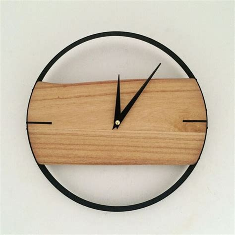 aliexpress com buy pinjeas natural wall clock brief