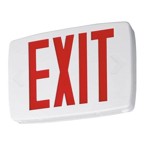 Lu Emergency Quantum lithonia lighting quantum black thermoplastic led emergency exit sign lqm s 3 r 120 277 m6 the