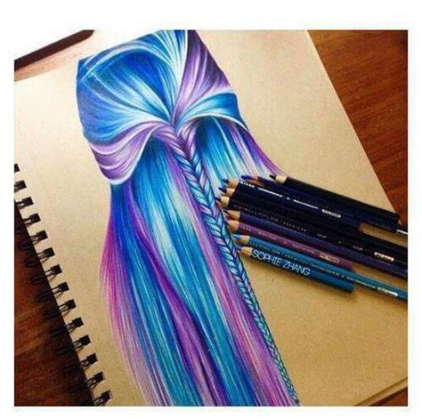 colored pencil hair 132 best images about colored pencils on