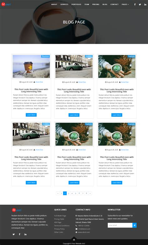 one page responsive html5 template menri one page responsive html5 template by meneva