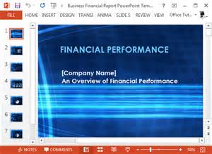 Powerpoint Report Templates by Free Business Financial Report Powerpoint Template