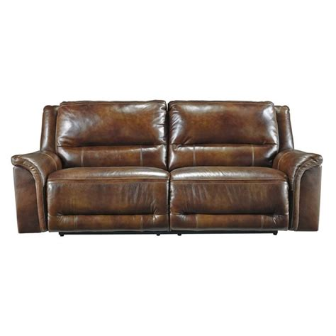 2 Seat Reclining Leather Sofa by Jayron Leather 2 Seat Power Reclining Sofa In Harness U7660047