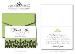 thank you card damask weddingood