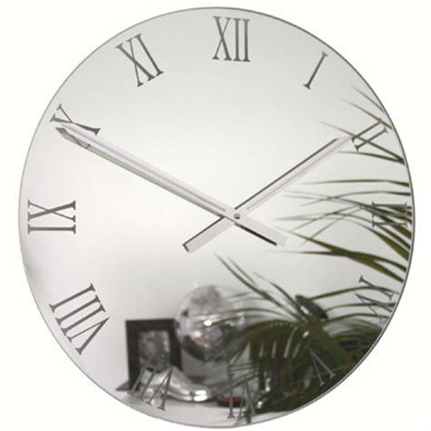 Designer Bathroom Mirrors roco verre roman mirror wall clock contemporary heaven uk