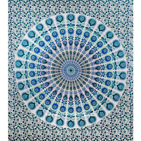 large indian hippie mandala tapestry psychedelic wall large white colorful floral mandala tapestry indian