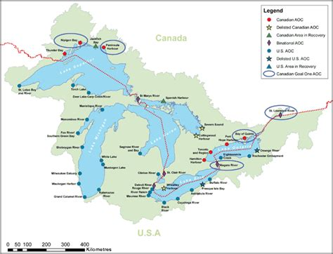 lakes of canada map environment and climate change canada acts regulations