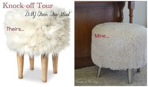 Cheap Faux Fur Stool by The O Jays Nate Berkus And Target On