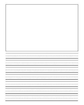 printable lined paper with drawing box lined journal writing paper by clip art by carrie teaching